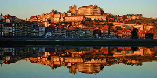Reflex Cityscape of Porto Town