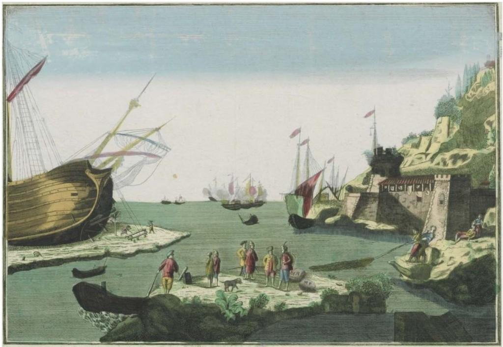 Image_00_Embarcaciones frente a Cádiz 1750